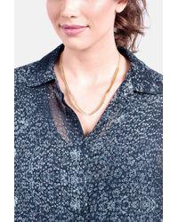 Gorjana - Metallic Amanda Hammered Pendant Necklace - Lyst