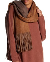 Shiraleah Brown Mercedes Fringe Wrap Scarf