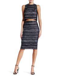Nicole Miller Black Metallic Pencil Skirt