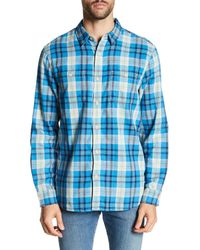 Lucky Brand - Blue Doubleweave Mason Classic Fit Workwear Shirt for Men - Lyst