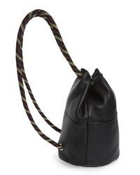 Rebecca Minkoff Black Climbing Rope Leather Backpack