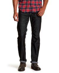 True Religion - Black Straight Leg Flap Pocket Corduroy Pants for Men - Lyst