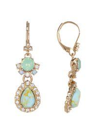 Marchesa - Metallic Double Drop Earrings - Lyst