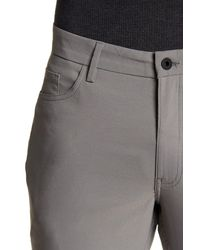 Kenneth Cole Gray Leg Zip Pocket Stretch Fit Pant for men