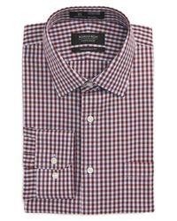 Nordstrom Red Smartcare(tm) Traditional Fit Check Dress Shirt for men