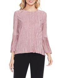 Vince Camuto - Pink Pleated Knit Top - Lyst