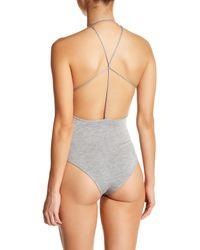 Sam Edelman Gray Strappy Bodysuit