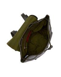 Raj Black Leather Backpack