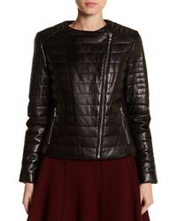 Doma Leather - Black Lightweight Lamb Nappa Padded Leather Jacket - Lyst