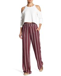 Love, Fire | Red Palazzo Print Pants | Lyst