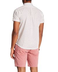 RVCA White Arrowed Slim Fit Shirt for men