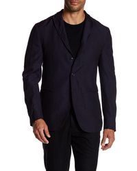John Varvatos - Blue Convertible Wool Peak Lapel Slim Fit Jacket for Men - Lyst