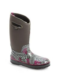 Bogs | Gray Winterberry Waterproof Snow Boot With Cutout Handles | Lyst
