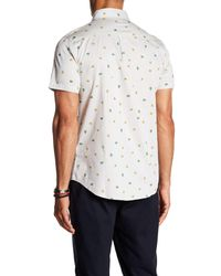 Sovereign Code - White Pismo Patterned Short Sleeve Regular Fit Shirt for Men - Lyst