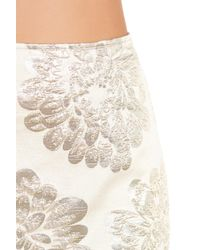 Trina Turk - White Flores Embroidered Skirt - Lyst