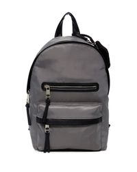 Madden Girl Gray Tower Nylon Mid Backpack