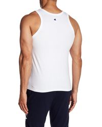 Champion - White Classic Jersey Ringer Tank Top for Men - Lyst