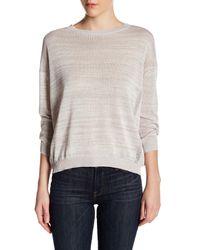 INHABIT   White Marled Dolman Sweater   Lyst