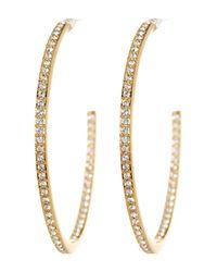 Swarovski - White Pierced Hook Earrings - Lyst