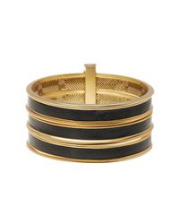 House of Harlow 1960 - Metallic The Titaness Leather Bangle Bracelet - Lyst