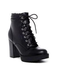 Madden Girl Black Joltz Platform Lug Boot