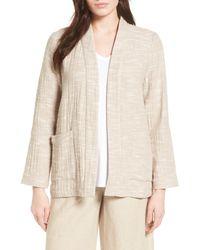 Eileen Fisher - Natural Cotton Jacket - Lyst
