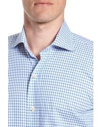 Ledbury Blue Garrison Slim Fit Check Dress Shirt for men