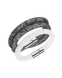 Swarovski | Metallic Stardust Crystal Filled Mesh Bracelet - Set Of 2 | Lyst
