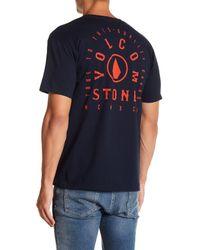Volcom - Blue Boycott Graphic Short Sleeve Tee for Men - Lyst