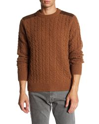 Barque - Brown Cable Knit Sweater for Men - Lyst