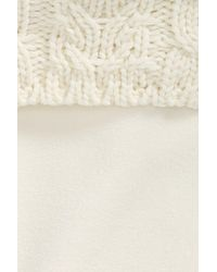 Hunter - White Tall Cable Knit Cuff Welly Socks - Lyst