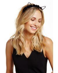 Noir Jewelry Brown Flower Crown Cat Ear Headband
