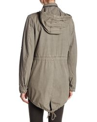 Levi's - Gray Lightweight Cotton Hooded Jacket - Lyst