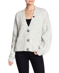 Pam & Gela - Multicolor Heart Patch Oversized Cardigan - Lyst