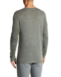 Autumn Cashmere Green Camo Inked Cashmere Sweater for men