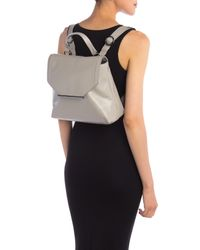 Halston Heritage - Gray Convertible Leather Backpack - Lyst