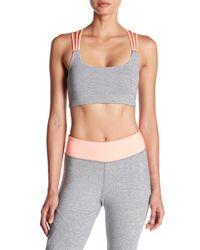DSGN Yoga - Gray Cage Back Strappy Sports Bra - Lyst
