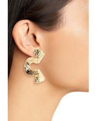 Cara - Metallic Hammered Metal Swirl Earrings - Lyst