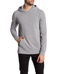 Quinn Gray Solid Pullover Hoodie for men