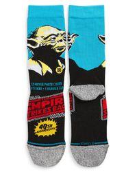 Stance Blue Star Warstm 40th Anniversary Yoda Socks for men