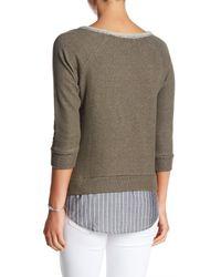 Olive & Oak - Green Soho Layered Sweater - Lyst