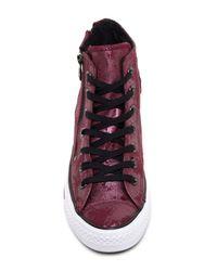 Converse Purple Chuck Taylor(r) All Star(r) Dual Zip Genuine Leather High Top Sneaker (women)