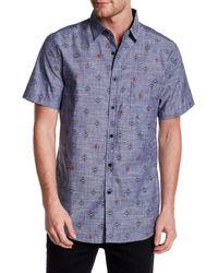 Sovereign Code - Blue Paso Short Sleeve Regular Fit Shirt for Men - Lyst