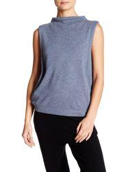 INHABIT | Blue Funnel Neck Sleeveless Cashmere Sweater | Lyst