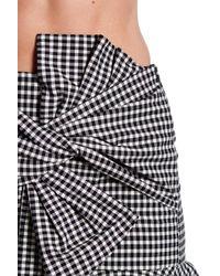 Veronica Beard Black Picnic Bow Gingham Print Mini Skirt