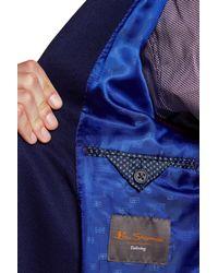 Ben Sherman - Blue Birdseye Two Button Notch Lapel Sports Coat for Men - Lyst