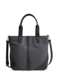 Sole Society Gray Flannel Tote