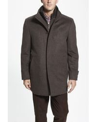 Cardinal Of Canada Brown Wool Jacket for men