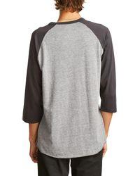 Brixton - Gray Garth Baseball T-shirt for Men - Lyst