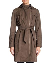 Vince Camuto - Multicolor Belted Asymmetrical Zip Softshell Jacket - Lyst